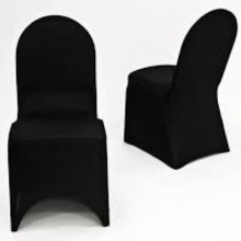 Spandex chair covers - black