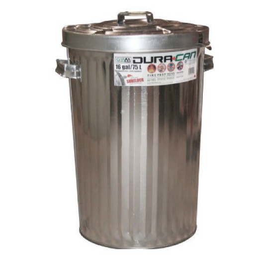 Metal trash can- dura can