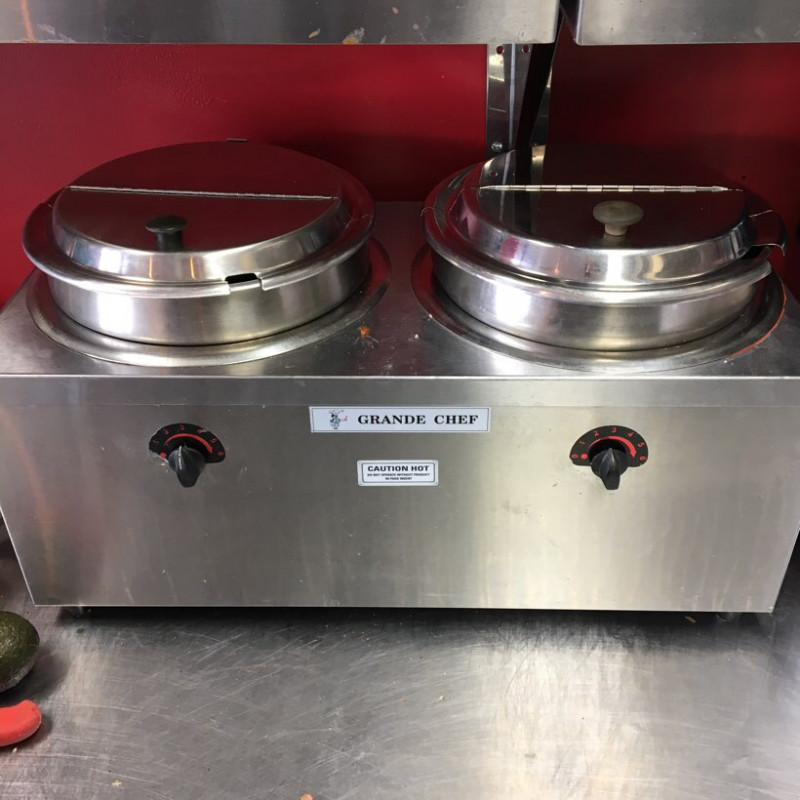 Double well electric soup warmer- grande chef