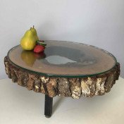 Charcuterie board - serving platter with glass top - (large round)