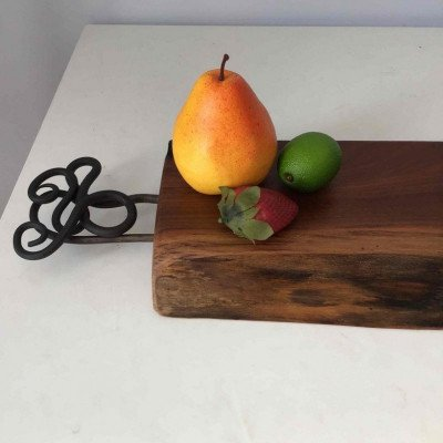 charcuterie board - serving board with handles-1