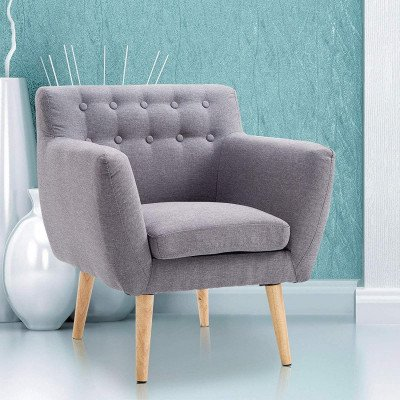 mid-century modern accent armchair picture 1