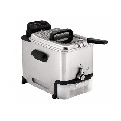 deep fryer with oil filtration and drain system