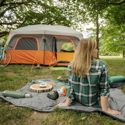 10 person straight wall cabin tent