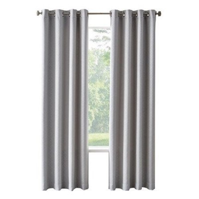 blackout grommet curtain grey