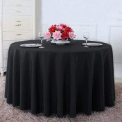 black round tablecloth