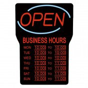 Open Sign with Business Hours