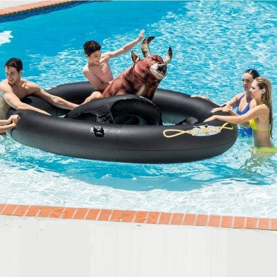 inflatable bull pool toy