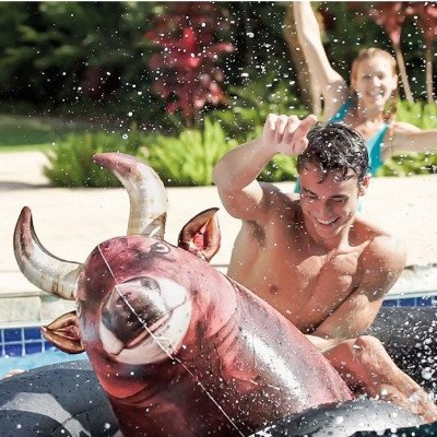 inflatable bull pool toy-2