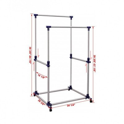 double rod garment rack-1