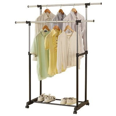 double rod garment rack-3