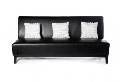 LouLou – 7' Black Armless Sofa