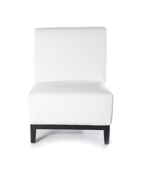 LouLou – White Armless Chair