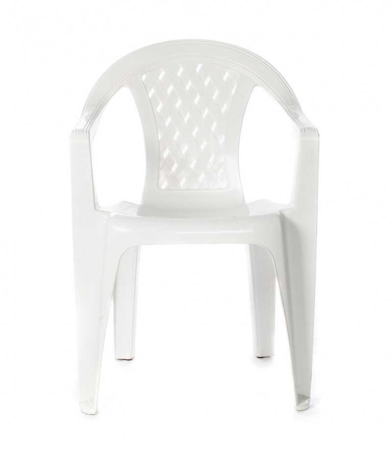 White Resin Stackable Patio Chair