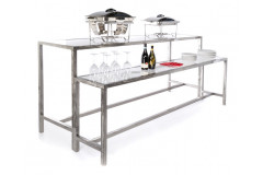 2-Tier plexiglass Food Station