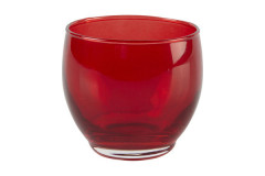 Red Votive Round Candle Holders