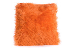 Orange Fur Pillow
