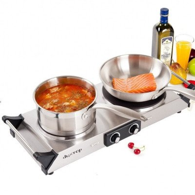 portable electric cast iron cooktop countertop burner picture 1