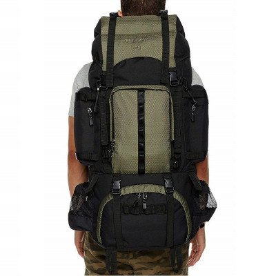 hiking backpack with rainfly picture 1