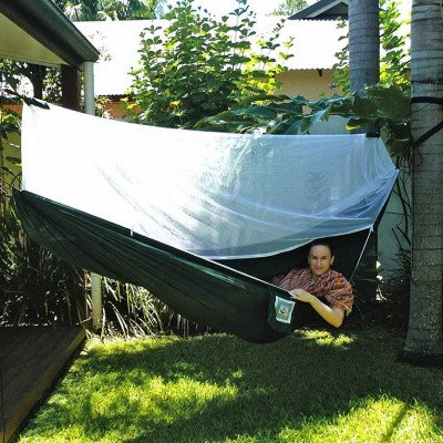 camping hammock with bug screen mossy netting canopy picture 1