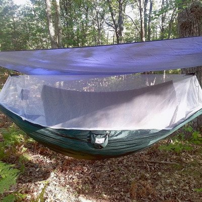camping hammock with bug screen mossy netting canopy picture 2