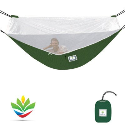 camping hammock with bug screen mossy netting canopy picture 3