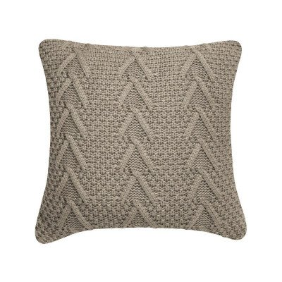 Cable Knit Tan Decorative Cushion picture 1