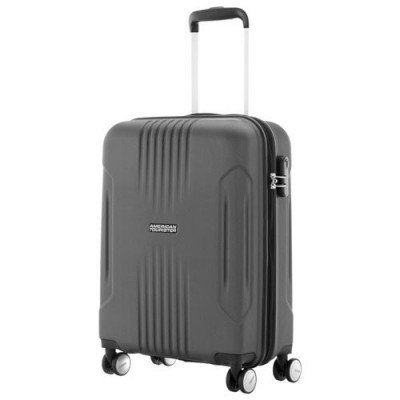 """american tourister ashcroft 18"""" hard side carry-on luggage - dark slate"""
