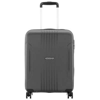 """american tourister ashcroft 18"""" hard side carry-on luggage - dark slate-1"""