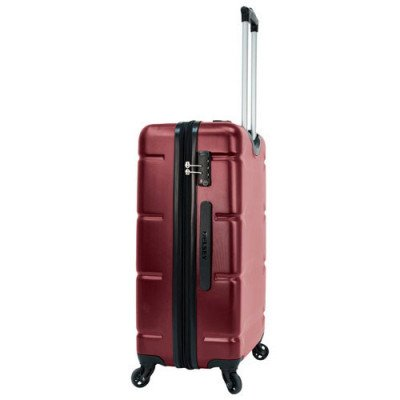 """delsey aurora 24"""" hard side expandable luggage - cherry red-2"""