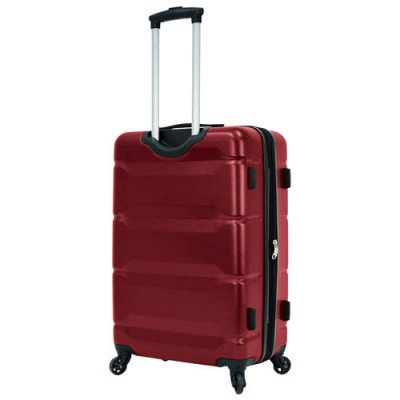 """delsey aurora 24"""" hard side expandable luggage - cherry red-3"""
