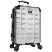 "Ben Sherman Wells 20"" Hard Side Expandable Carry-On Luggage - Light Silver"
