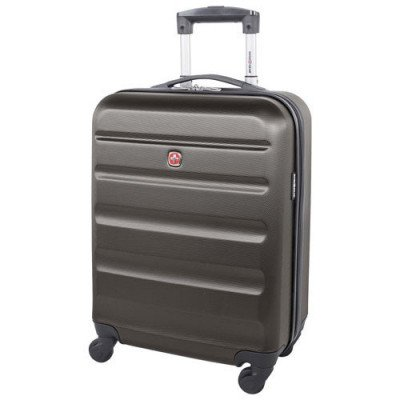 "swissgear silver star 20"" hard side carry-on luggage - charcoal"