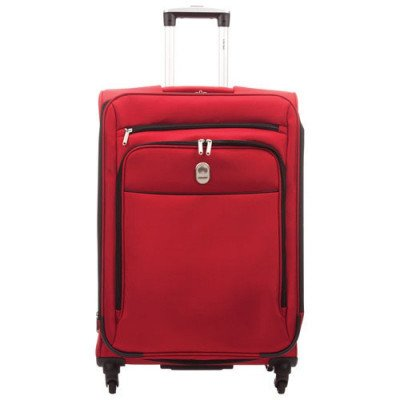 """delsey cannes 25"""" 4-wheeled expandable luggage - red-1"""