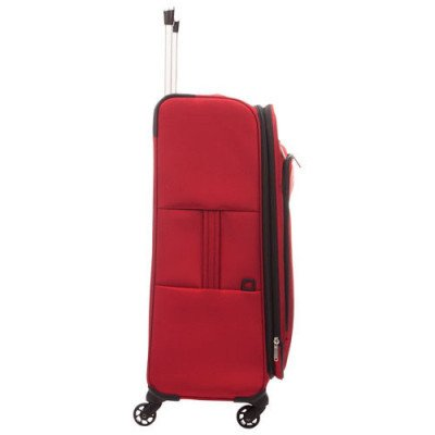 """delsey cannes 25"""" 4-wheeled expandable luggage - red-2"""