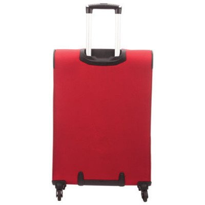 """delsey cannes 25"""" 4-wheeled expandable luggage - red-3"""