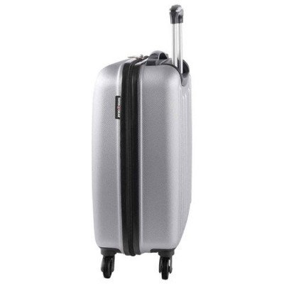 "swissgear la sarinne lite 20"" hard side 4-wheeled carry-on luggage - silver-1"