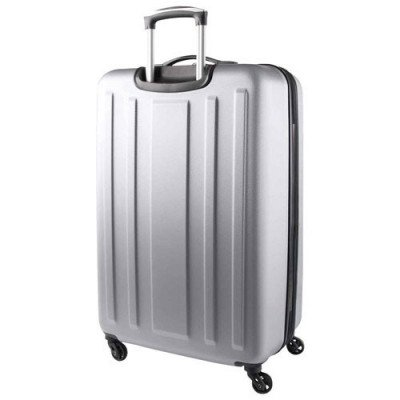 "swissgear la sarinne lite 20"" hard side 4-wheeled carry-on luggage - silver-2"
