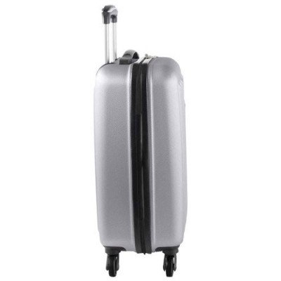"swissgear la sarinne lite 20"" hard side 4-wheeled carry-on luggage - silver-3"