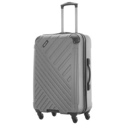 "kenneth cole kings point 24"" hard side luggage - charcoal/silver"
