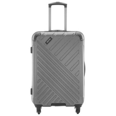 "kenneth cole kings point 24"" hard side luggage - charcoal/silver-1"