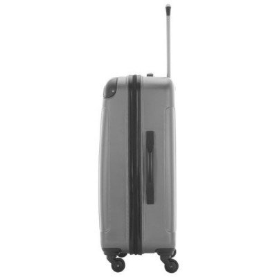 "kenneth cole kings point 24"" hard side luggage - charcoal/silver-2"