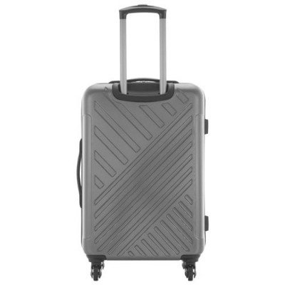 "kenneth cole kings point 24"" hard side luggage - charcoal/silver-3"
