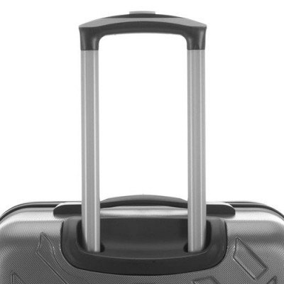 "kenneth cole kings point 24"" hard side luggage - charcoal/silver-4"