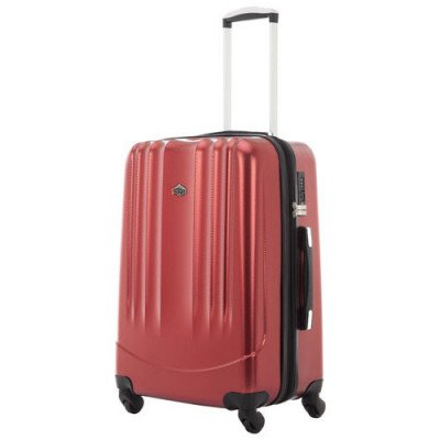 "pacific livingston 25"" hard side expandable luggage - red"
