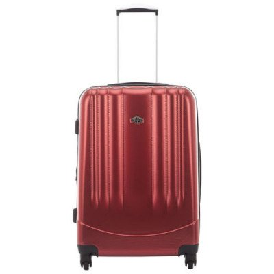 "pacific livingston 25"" hard side expandable luggage - red-1"