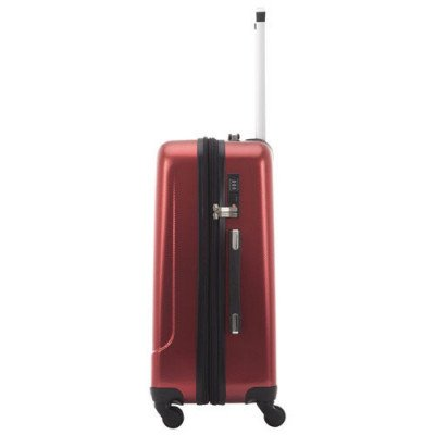 "pacific livingston 25"" hard side expandable luggage - red-2"
