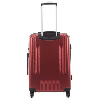 "pacific livingston 25"" hard side expandable luggage - red-3"