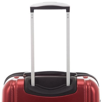 "pacific livingston 25"" hard side expandable luggage - red-4"