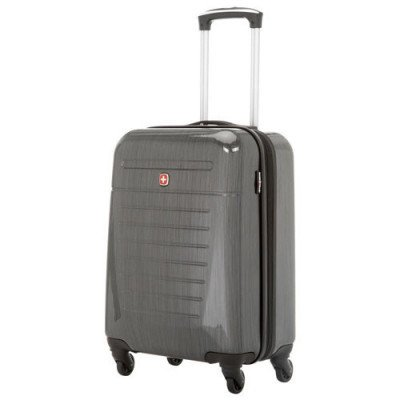 "swissgear extravagence 20"" hard side carry-on luggage - charcoal"